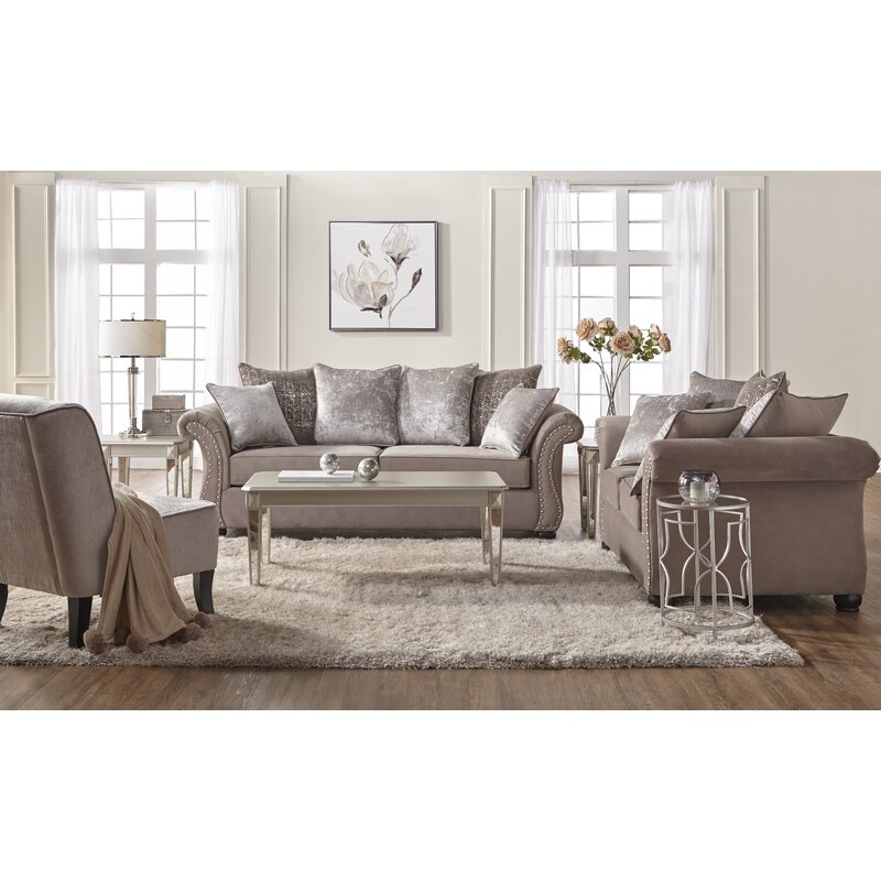 Alcott Hill Agnes 2 Piece Living Room Set