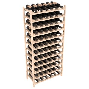 Karnes Pine Stackable 72 Bottle Floor Win..