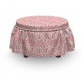 Swirled Floral Ottoman Slipcover (Set of 2) by East Urban Home