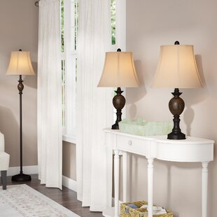 Three Posts Borowski 3 Piece Table and Floor Lamp Set