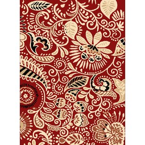 Brent Red Area Rug