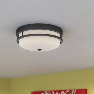 Reviews Collin 2-Light Flush Mount By World Menagerie