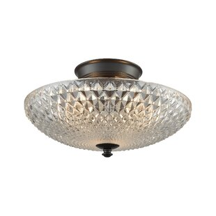Red Barrel Studio Aylward 3-Light Semi Flush Mount