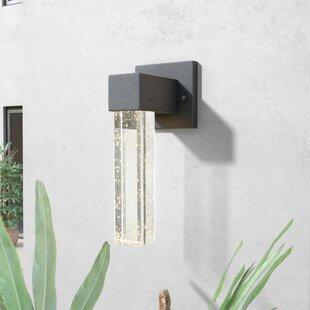 Brayden Studio Graney Dimmable LED 1-Light Outdoor Sconce