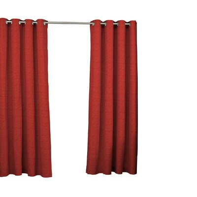 Waverly Key Largo Solid Semi-Sheer Thermal Grommet Single Curtain Panel Size per Panel: 52