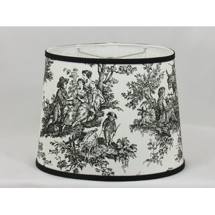 Toile 13.25 Cotton Oval Lamp Shade