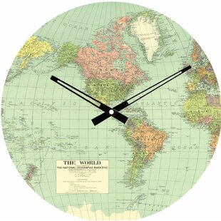 World map clock wayfair world map 115 wall clock gumiabroncs Image collections