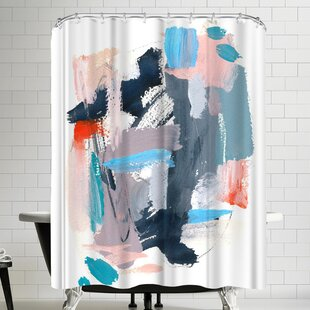 Buy clear Olimpia Piccoli Rhythms Ii Shower Curtain ByEast Urban Home