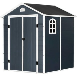 6 Ft. W X 6 Ft. D Metal Garage Shed By WFX Utility