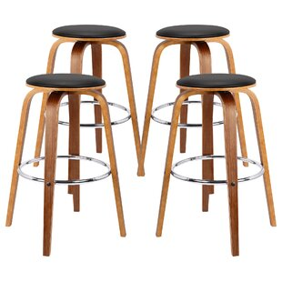 Nataly Backless Wood 30.7 Bar Stool (Set of 4) by Corrigan Studio