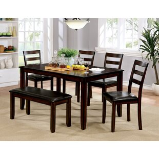 Alcott Hill Kasten 6 Piece Dining Table Set