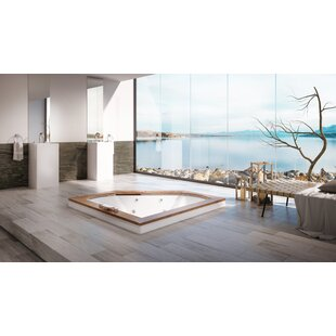 Fuzion Illuma LCD Whisper Right-Hand 66 x 66 Drop-In Salon Bathtub by Jacuzzi®