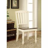 Andrew  Cottage Solid Wood Slide Chair in White (Set of 2) by August Grove®