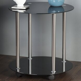 AVF Wheeled End Table