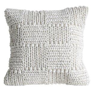 Caryl Knit Wool Throw Pillow