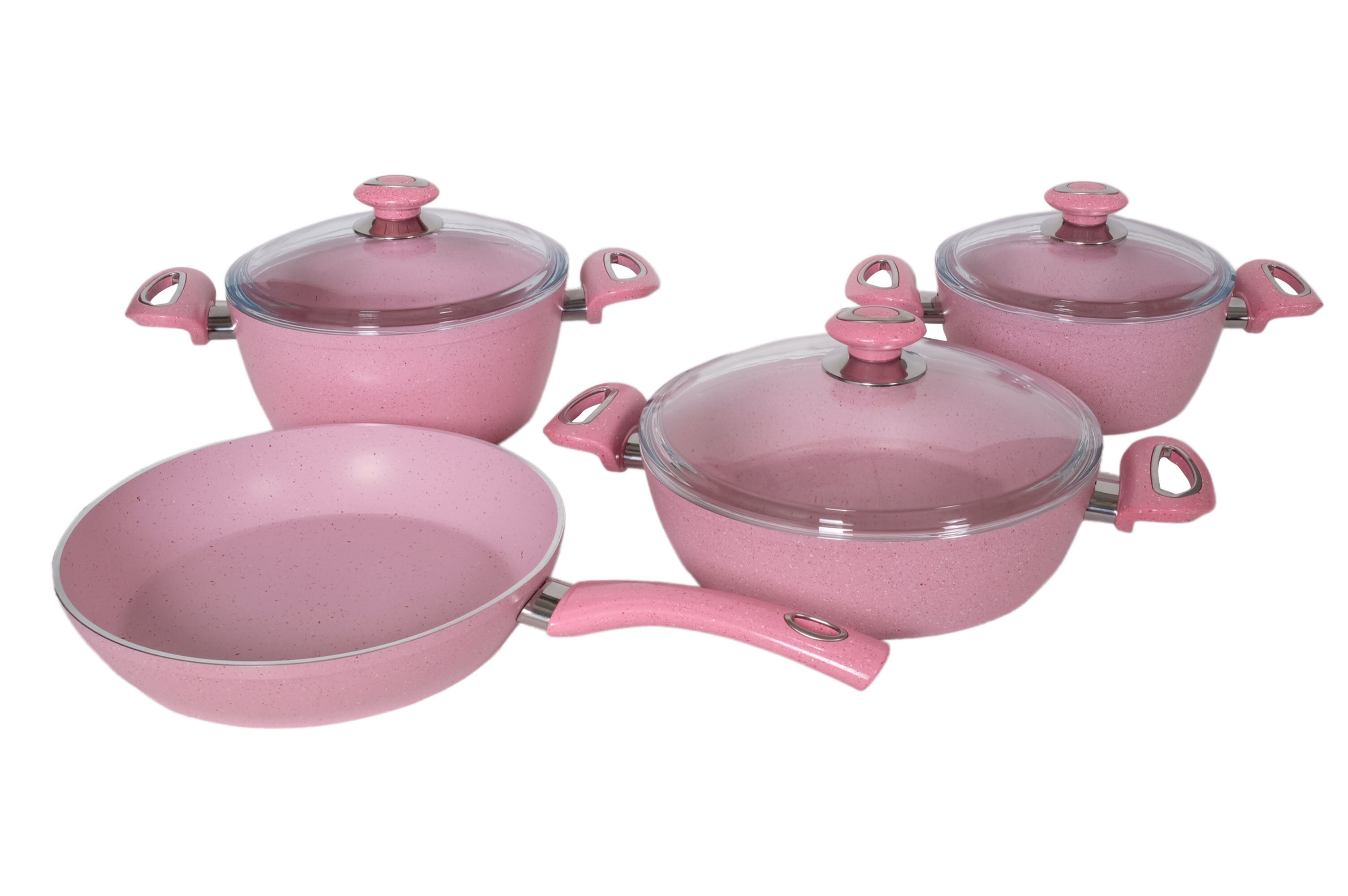 Casserole Induction Compatible Vitroceramique homedora fiesta 7 piece non stick cookware set