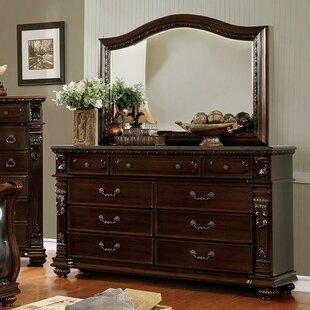 Astoria Grand Gass 6 Drawer Double Dresser with Mirror