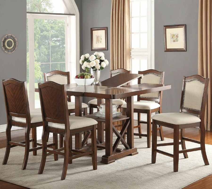 Chevaliers 7 Piece Counter Height Dining Set