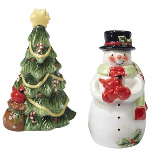 Starry Night Snowman 3D Salt & Pepper Shaker Set