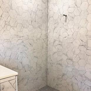 Carrara Porcelain Tile Hexagon Wayfair