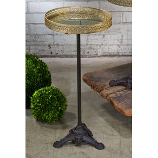 Krick Mirrored Tray End Table by World Menagerie