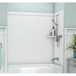 Elite Tub Surround 60 H x 60 W x 32 D Shower Wall By FlexStone
