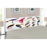Birds Upholstered Panel Headboard by East Urban Home