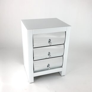 Rosdorf Park Princed 3 Drawer Nightstand
