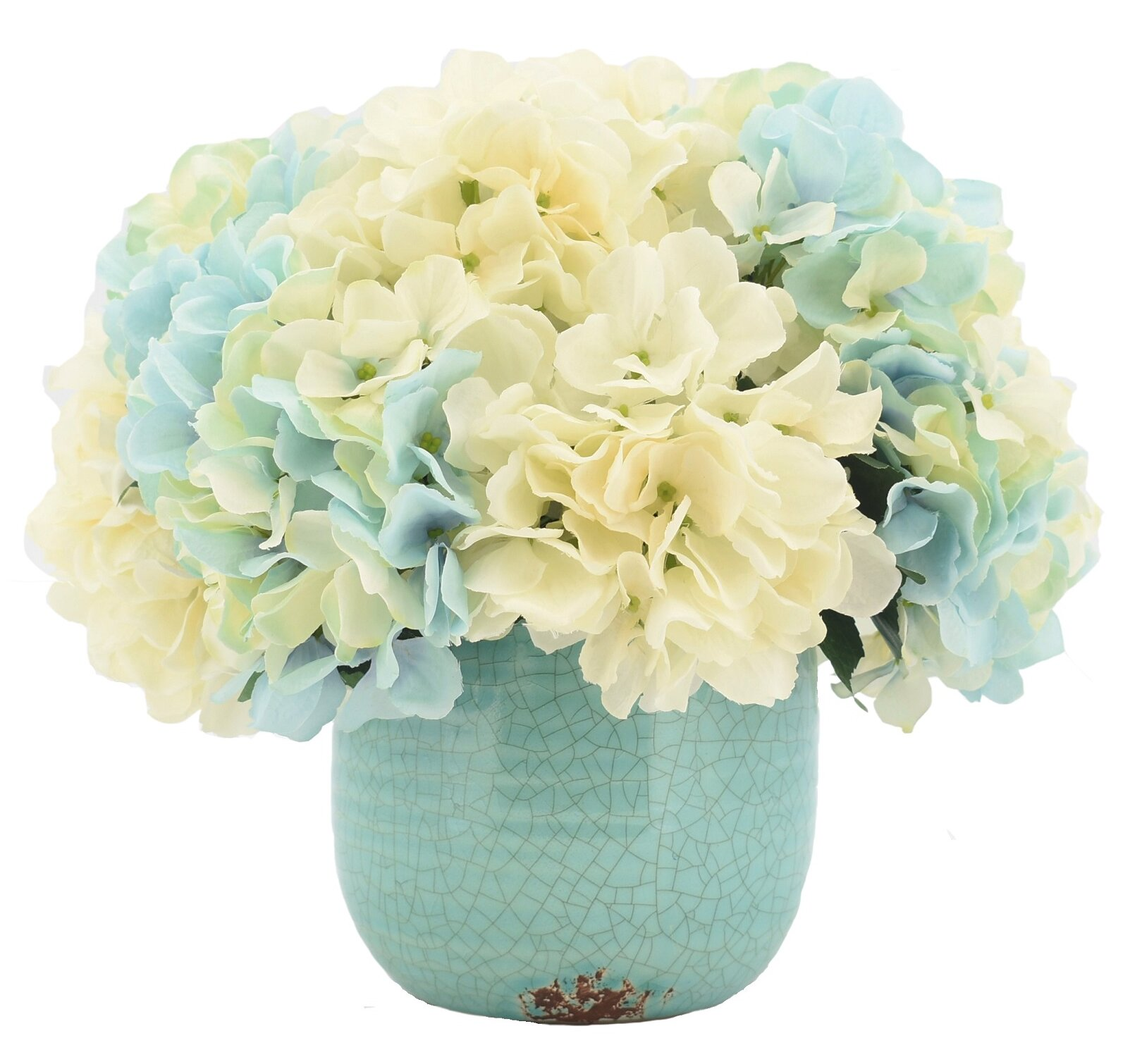 Rosecliff Heights Hydrangeas Floral Arrangements And Centerpieces In Pot Reviews Wayfair