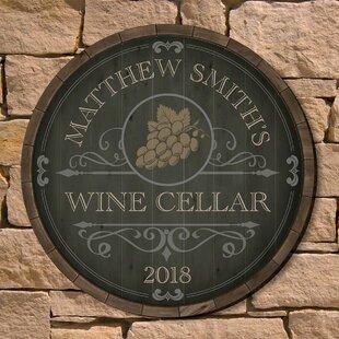 Personalized Wine Barrel Sign Wayfair