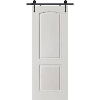Calhome Paneled Manufactured Wood Primed Classic Barn Door