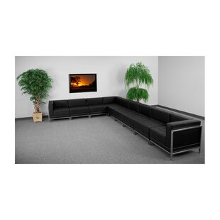Orren Ellis Peyton Leather Modular Sectional