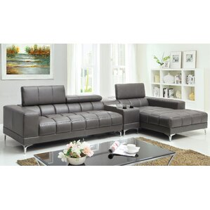 Derrikke Reclining Sectional by Hokku Designs
