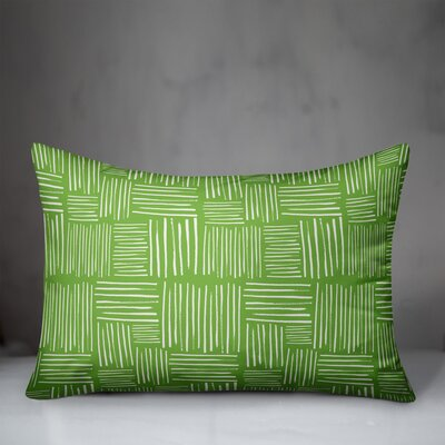 Mccarter Crosshatch Indoor/Outdoor Lumbar Pillow by Wrought Studio 2020 Coupon