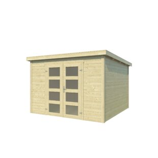 10 X 11 Ft. Tongue And Groove Log Cabin By WFX Utility