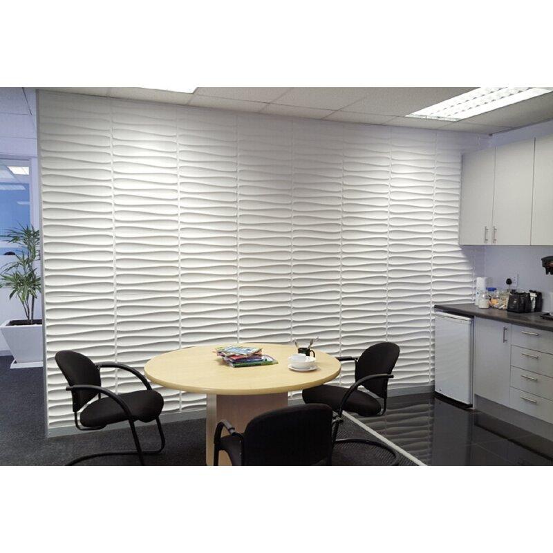 Orren Ellis Attleboro 19 7 X 19 7 Reclaimed Peel And Stick Bamboo Wall Paneling In White Wayfair
