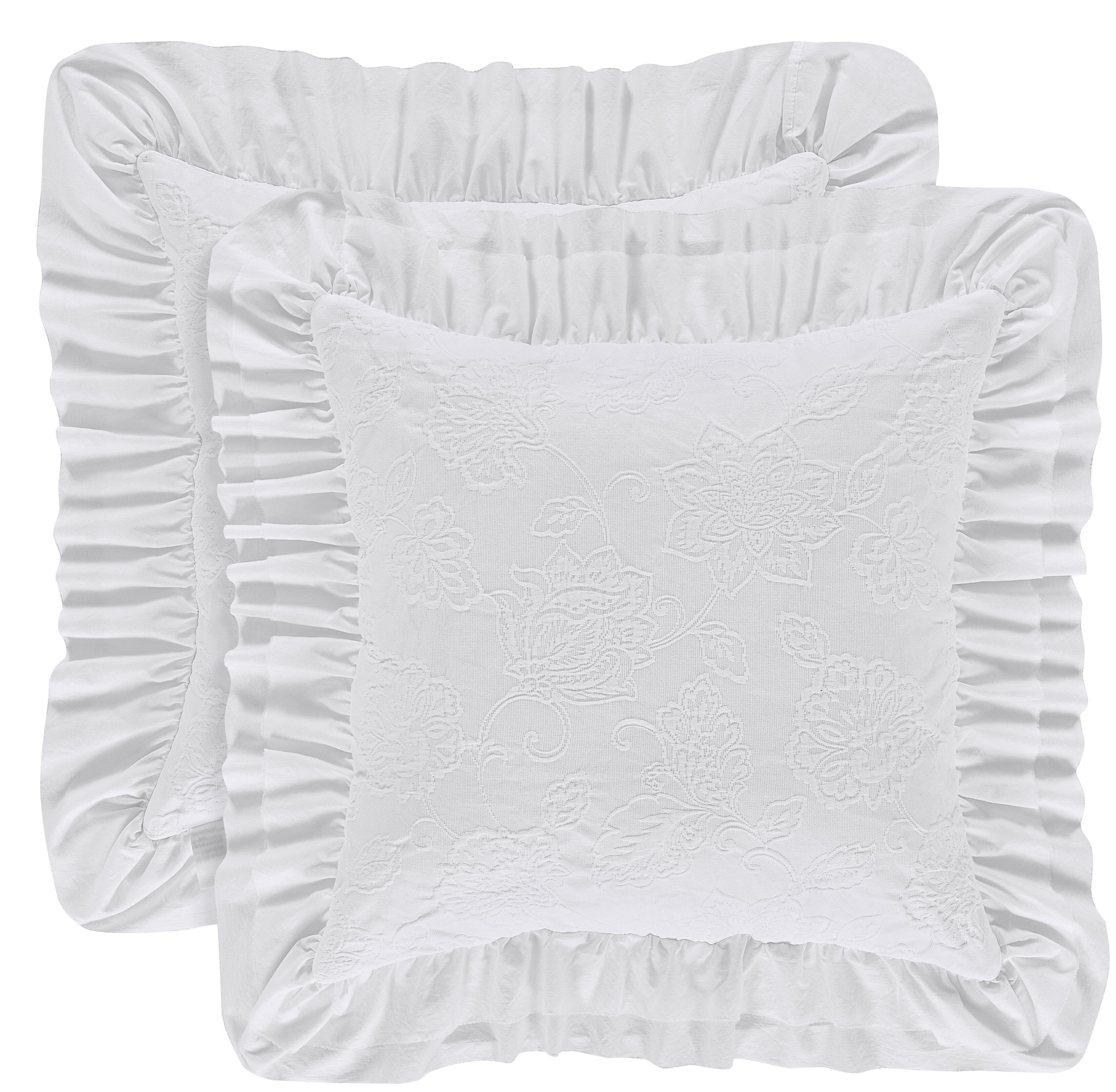 Ophelia Co Mclaughlin Square Decorative Cotton Throw Pillow Reviews Wayfair