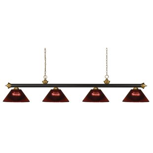 Red Barrel Studio Zephyr 4-Light Steel Pool Table Light with Hanging Chain