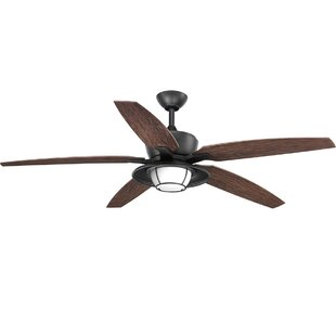 Milmont 5 Blade Outdoor LED Ceiling Fan with Remote