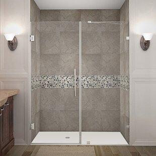 Nautis 60 x 72 Hinged Completely Frameless Shower Door ByAston