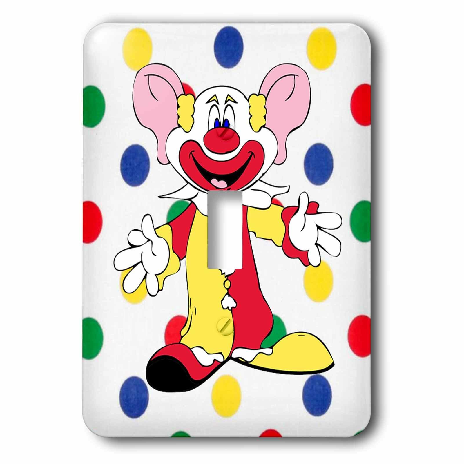 3drose Clown On Multi Dots 1 Gang Toggle Light Switch Wall Plate Wayfair