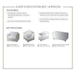 TK Classics Cape Cod Winter 6 Piece Sofa ..