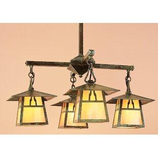 Carmel 4-Light Shaded Chandelier by Arroyo Craftsman