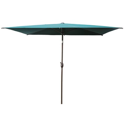 Valor 6.5 X 10 Rectangular Market Umbrella by Winston Porter Modern
