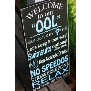 Personalized Pool Signs Wayfairca