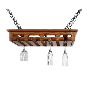 Laurel Highlands Woodshop Hanging Wine Glass Rack