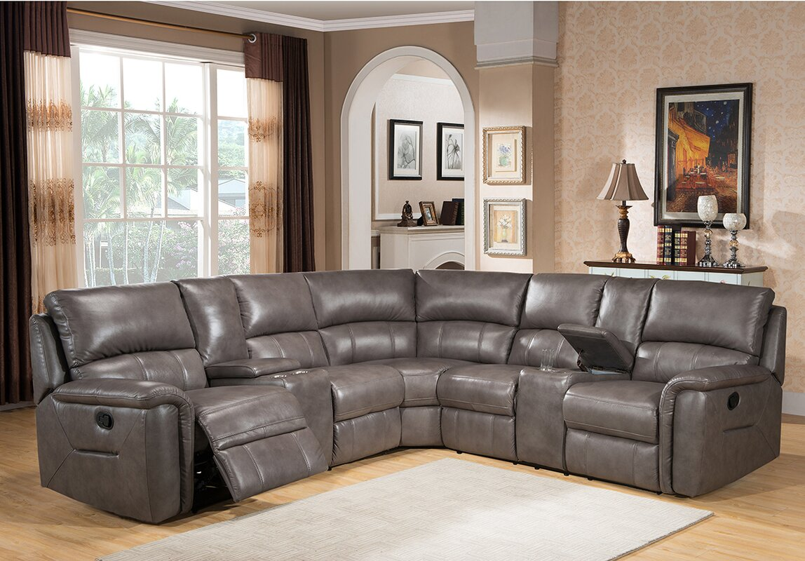 Sacramento Leather Reclining Sectional : recliner sectional leather - islam-shia.org