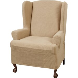 T-Cushion Wingback Slipcover Set by Three Posts