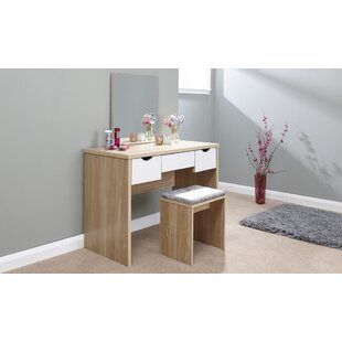 Romane Dressing Table Set With Mirror By Zipcode Design
