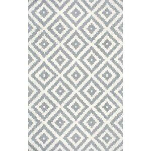 Obadiah Hand-Woven Wool Gray Area Rug